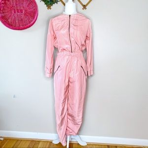Vintage peach full body jumpsuit